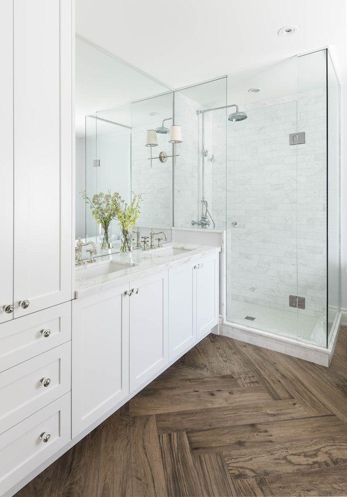 fresh marble subway tile bathroom concept-Contemporary Marble Subway Tile Bathroom Layout