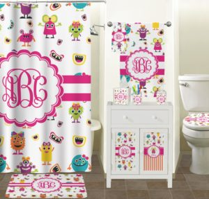Girly Bathroom Sets Elegant Endearing Girly Monsters Bathroom Accessories Set Personalized Picture