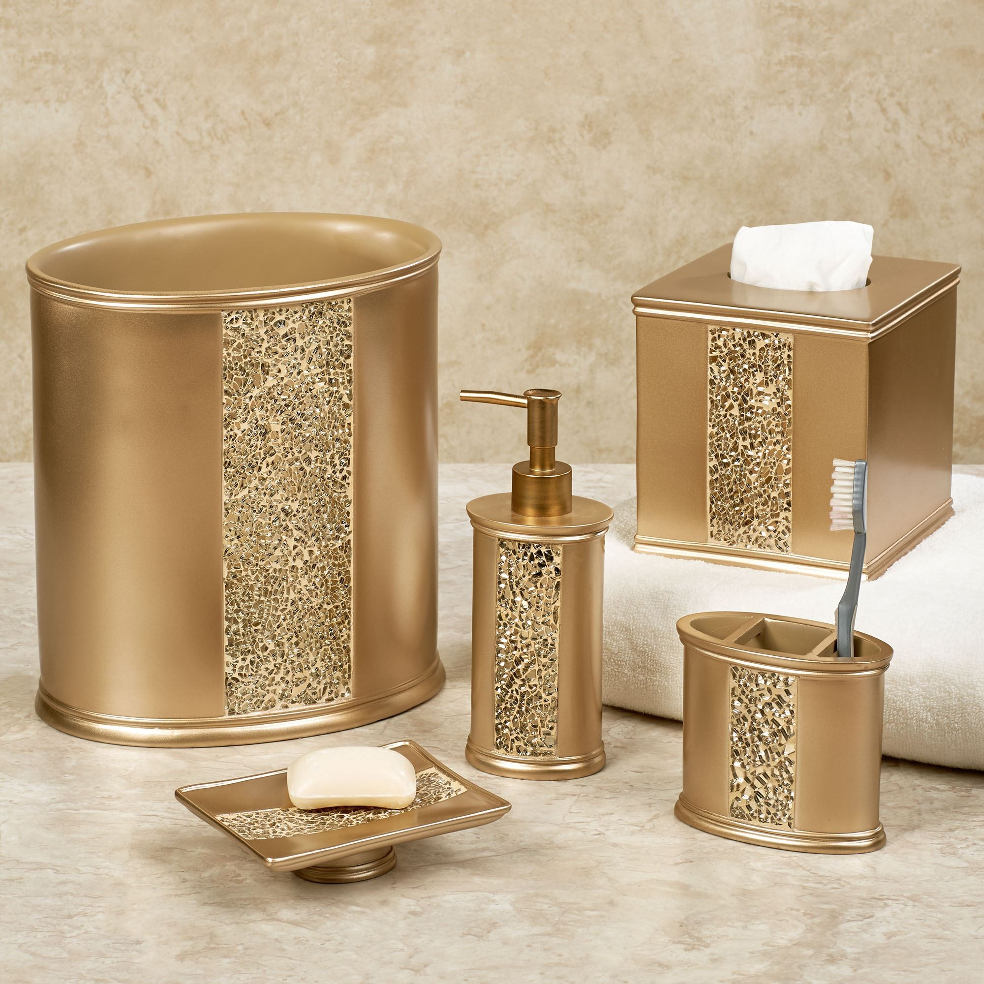 Beautiful Gold Bathroom Accessories Sets Ideas