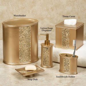 Gold Bathroom Set Fantastic Prestigue Champagne Gold Mosaic Bath Accents Wallpaper