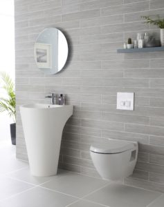 Gray Tile Bathroom Inspirational We Adore This White and Grey Bathroom Plete with Lavish Basin Pattern