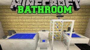 How to Make A Bathroom In Minecraft Stylish Minecraft Bathroom toilet Shower Bathtub Sink More Mod Portrait