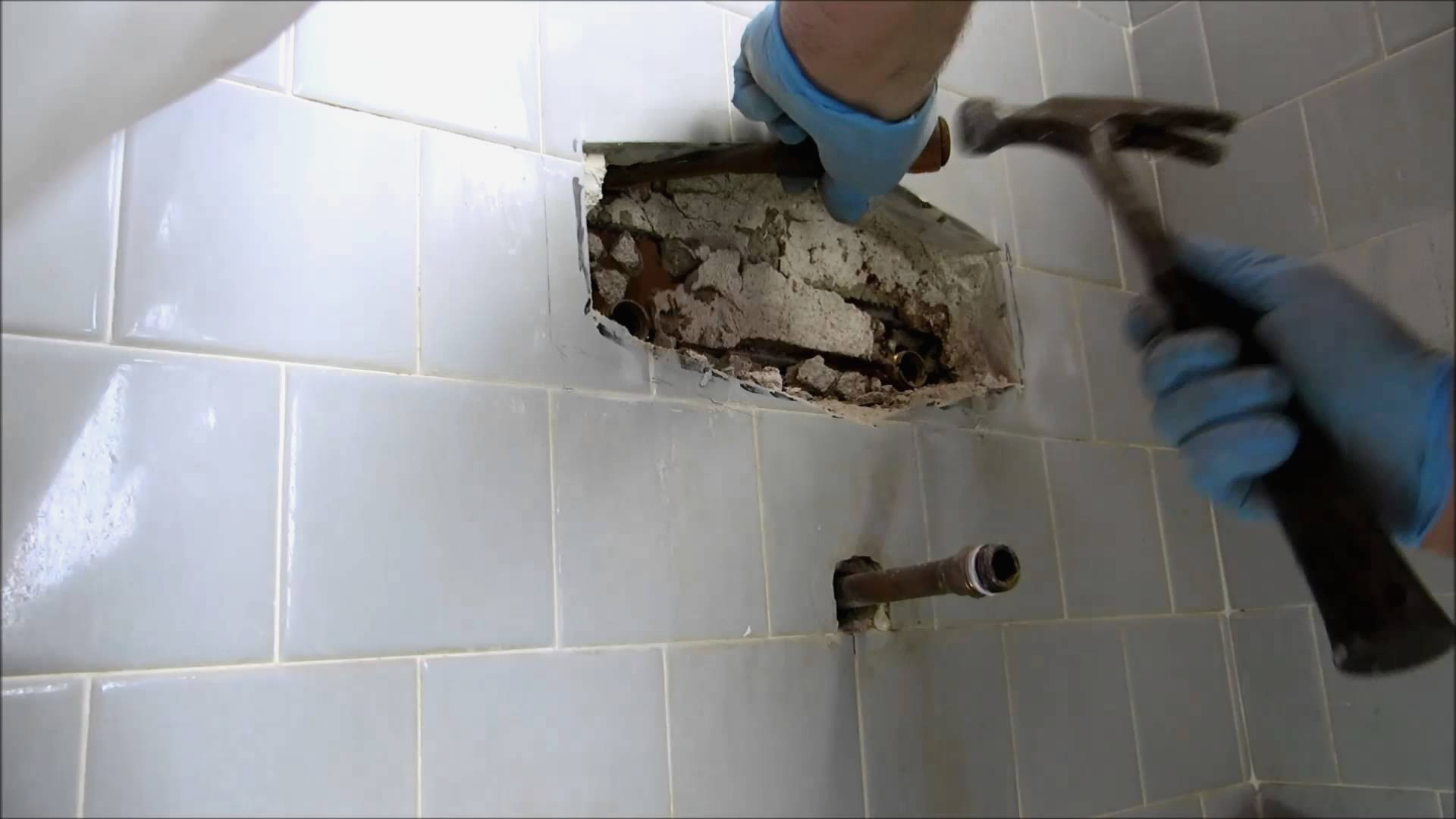 How to repair a bathroom wall after removing tile archives bathroom design ideas gallery image for How to remove tile wall in bathroom