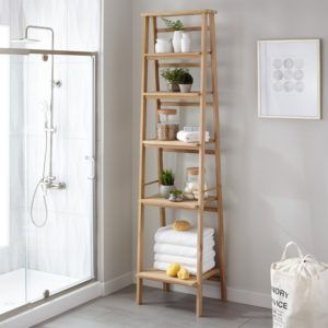 Ladder Shelf for Bathroom Elegant Oversized Ladder Style Teak Bathroom Shelf Bathroom Pattern