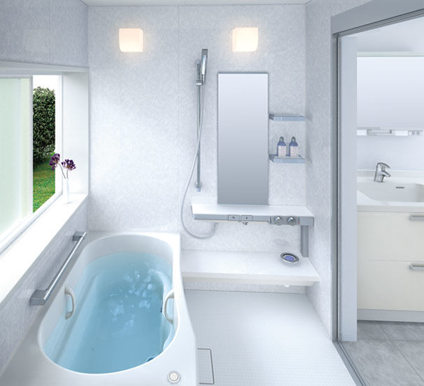 latest blue glass tile bathroom décor-Amazing Blue Glass Tile Bathroom Photograph