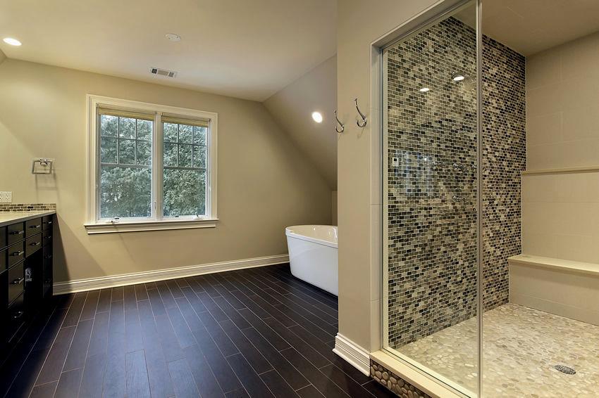 latest hardwood floors in bathroom photo-Contemporary Hardwood Floors In Bathroom Photo