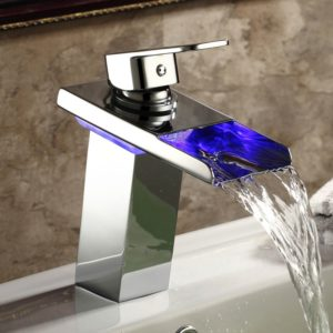 Led Bathroom Faucet Fantastic 7 Inch Chrome Led Vessel Sink Waterfall Faucet Ls6 Online