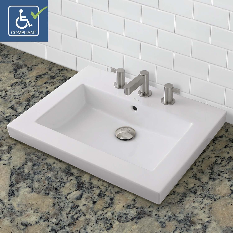 Low Profile Bathroom Sink Incredible Low Profile Bathroom Sink Inside Decolav Corrina 8 Cwh Layout