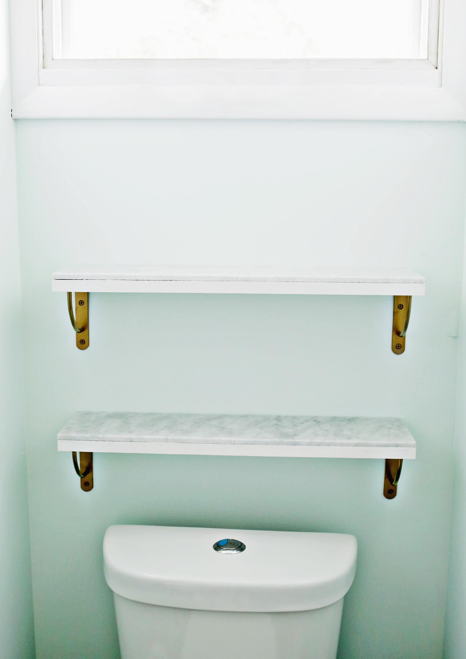 Marble Bathroom Shelf Finest Marble Shelving Diy A Beautiful Mess Construction