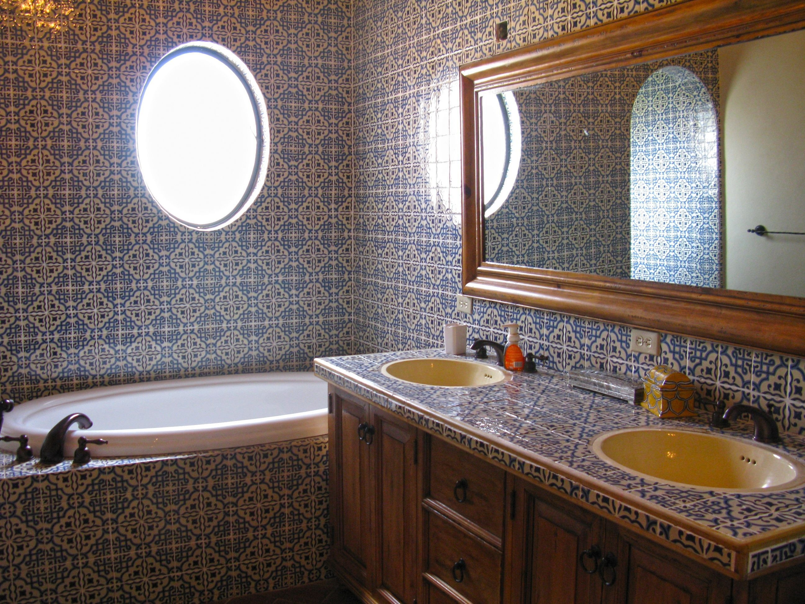 ordinary Mexican Bathroom Design Ideas Part - 9: Mexican Tile Bathroom Terrific Luxury Mexican Tile Bathroom Designs Aeaart  Design Photo