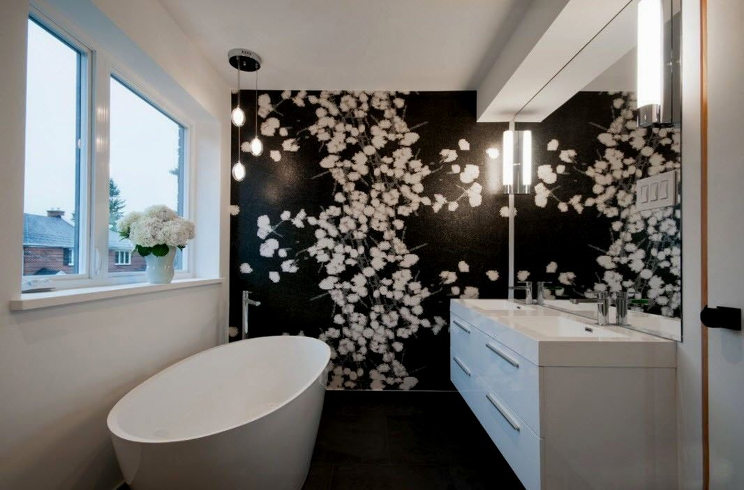 modern bathroom accent tile photo-Stunning Bathroom Accent Tile Photograph