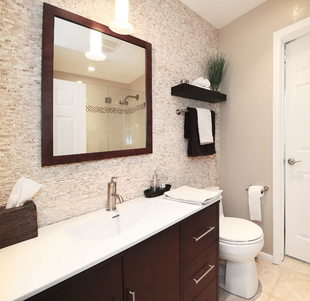 Contemporary Bathroom Remodel software Pattern - Home ...