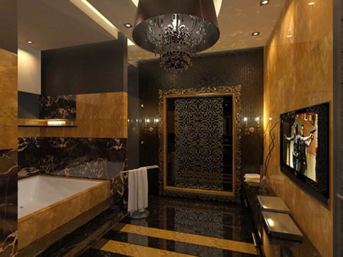 modern black and gold bathroom rugs picture-Cool Black and Gold Bathroom Rugs Wallpaper
