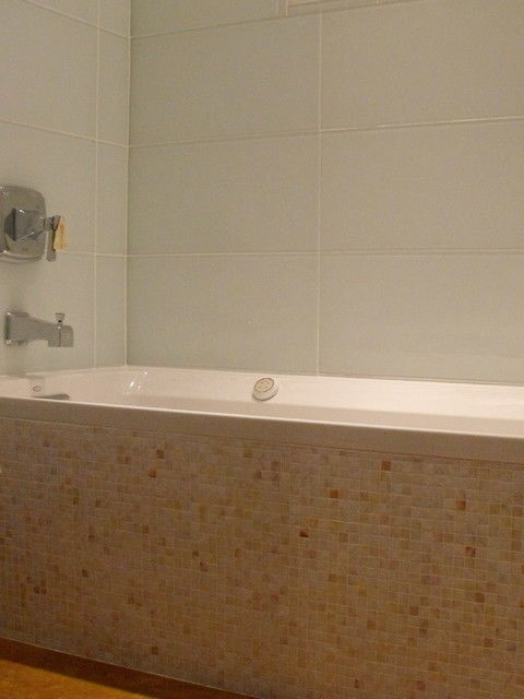 modern blue glass tile bathroom online-Amazing Blue Glass Tile Bathroom Photograph