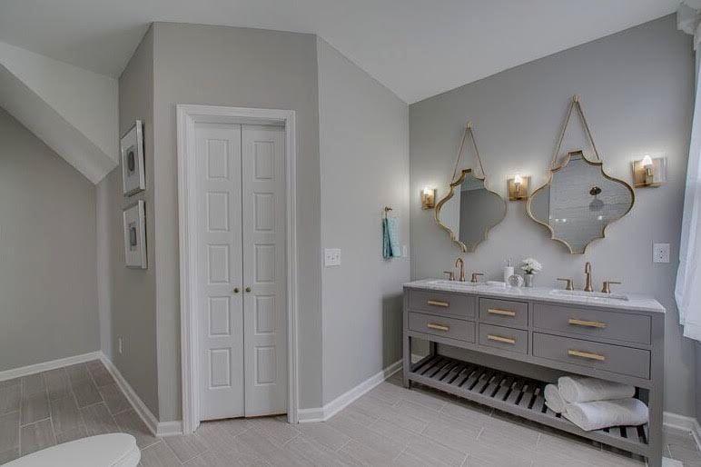 new gray and brown bathroom photo-Elegant Gray and Brown Bathroom Inspiration