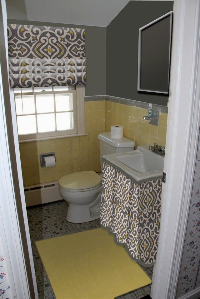 new grey and yellow bathroom construction-Lovely Grey and Yellow Bathroom Model