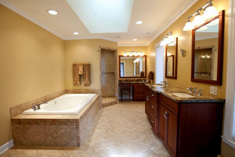 new hardwood floors in bathroom layout-Contemporary Hardwood Floors In Bathroom Photo