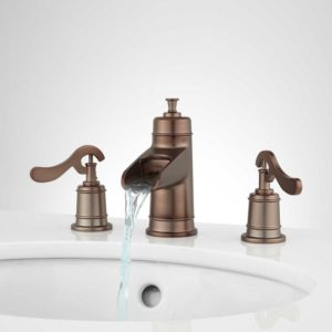 Oil Rubbed Bronze Faucet Bathroom Fantastic Melton Widespread Waterfall Bathroom Faucet Bathroom Ideas