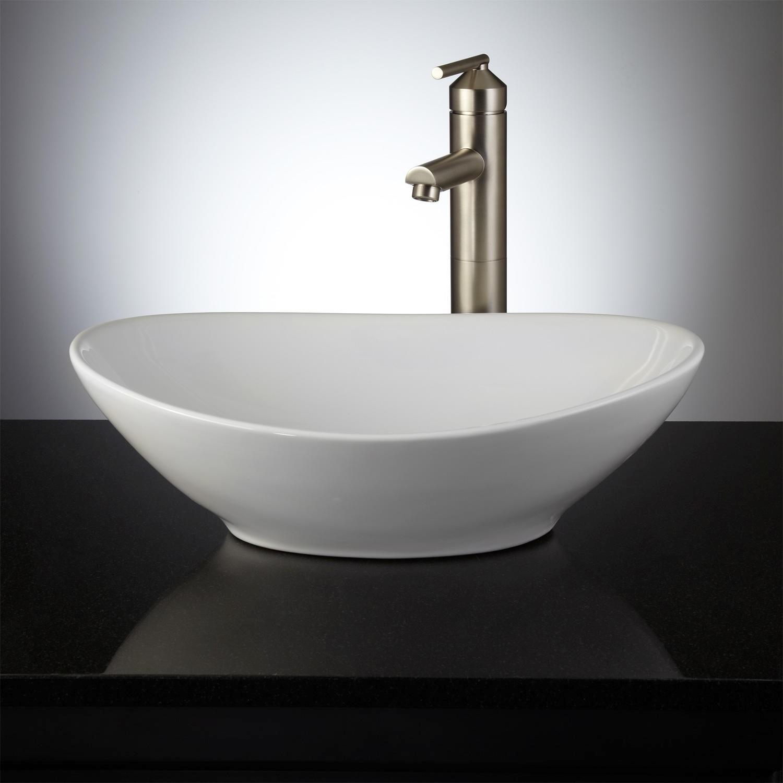 Oval Bathroom Sinks Finest Valor Oval Porcelain Vessel Sink Bathroom Architecture