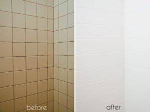 Painting Bathroom Tile before and after Stylish top Painting Bathroom Tile before and after Remodel with Photo