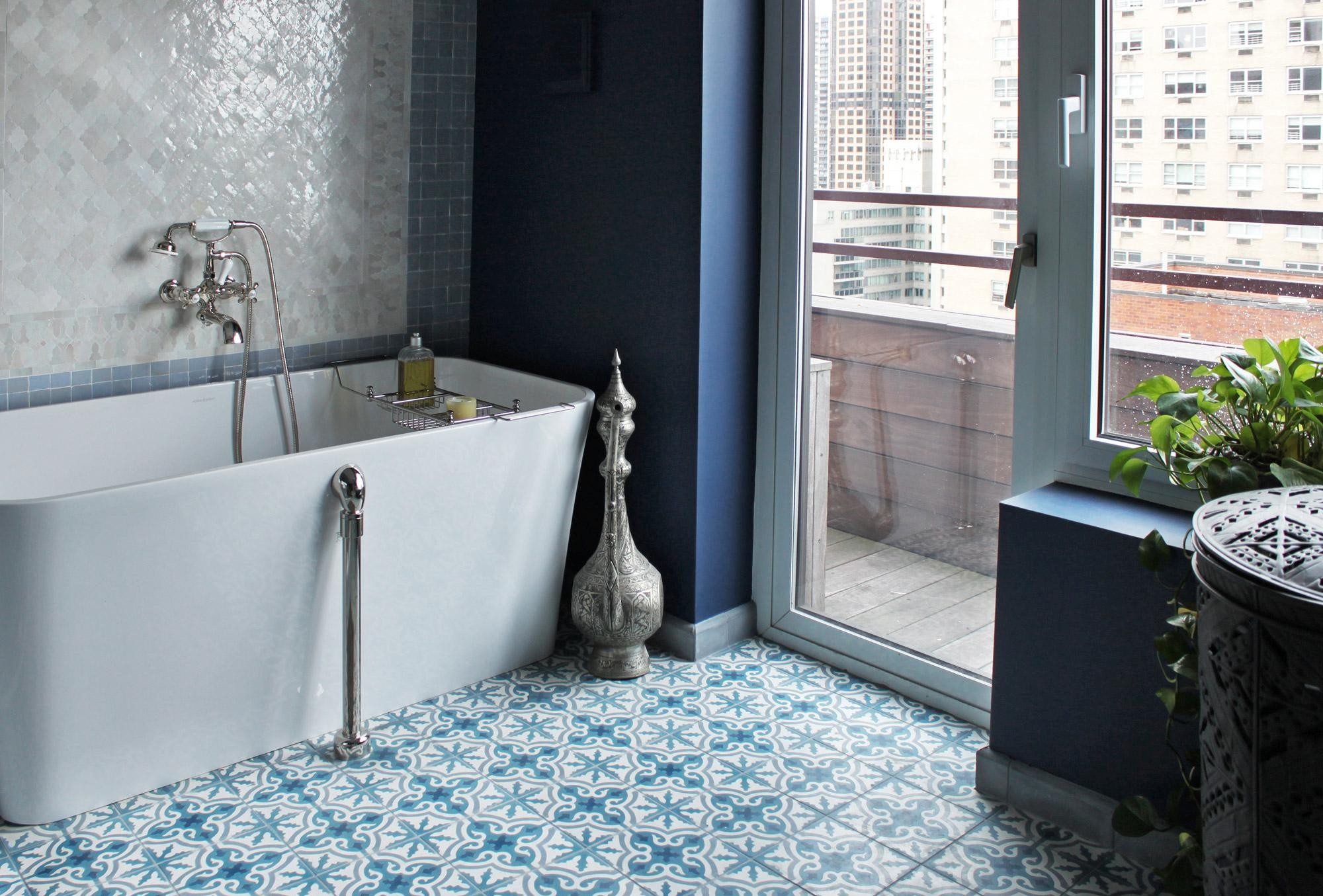 Bon Patterned Bathroom Floor Tiles Contemporary Blue Ceramic Floor Tile  Novalinea Bagni Interior Choose Inspiration
