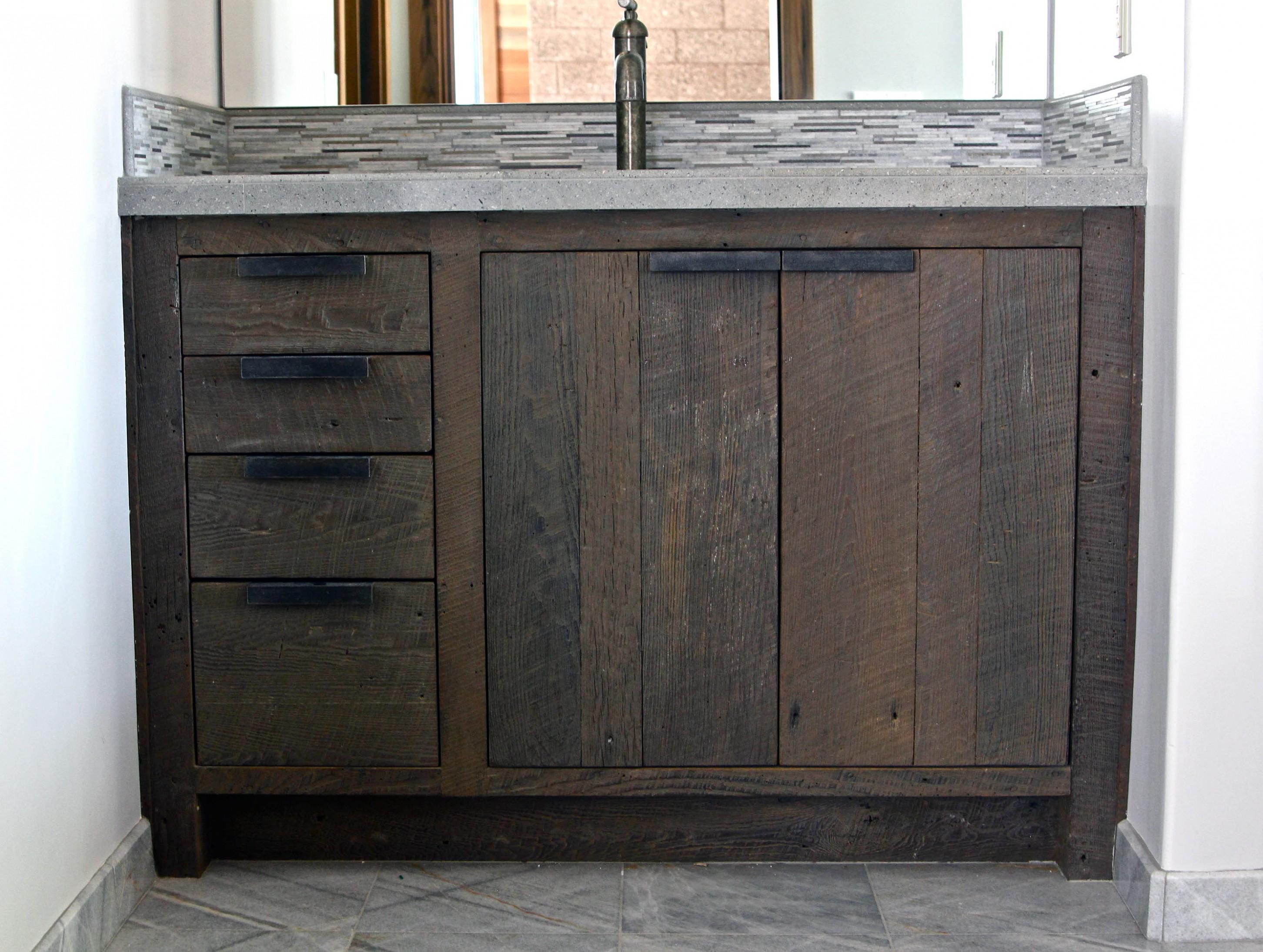Prefab Bathroom Vanity Sensational Bathroom Reclaimed Wood Vanity Bathroom Bathroom with Prefab Concept