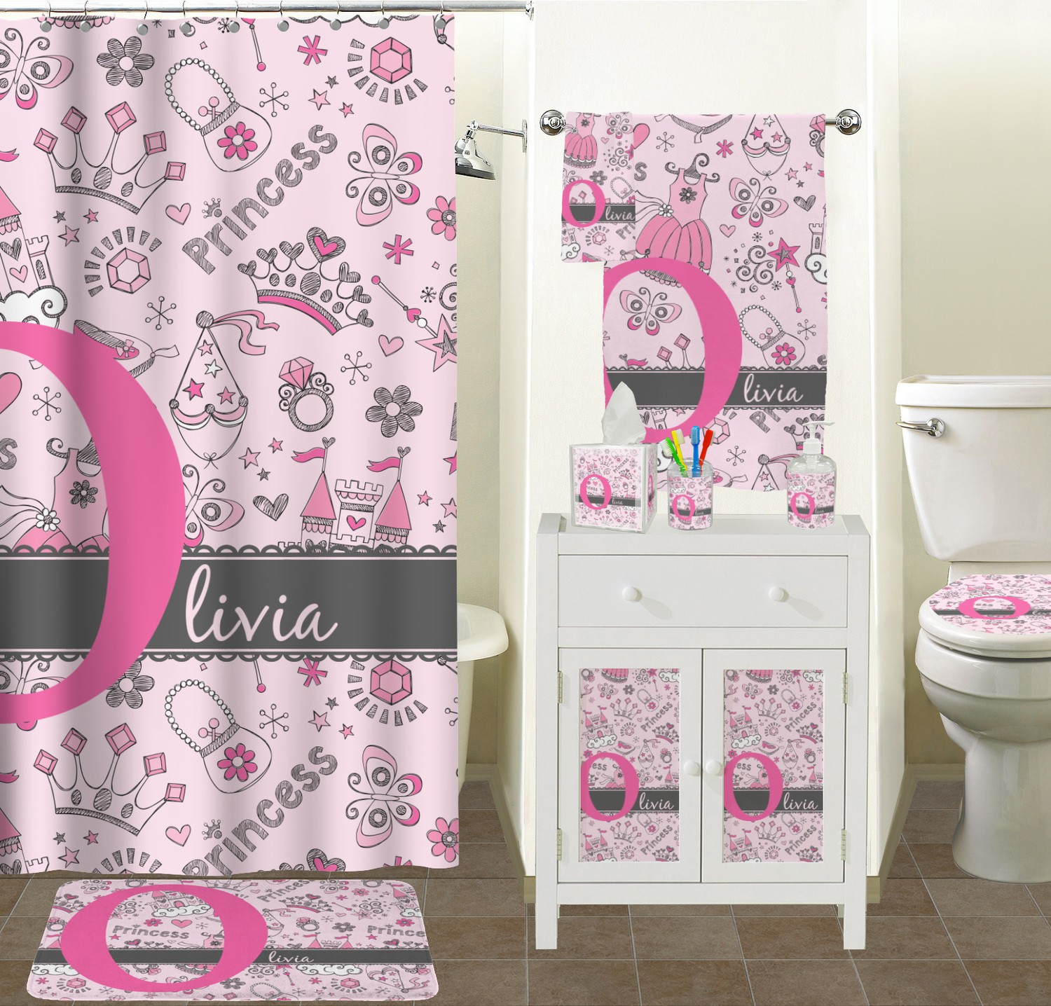 Exceptionnel Princess Bathroom Set Lovely Princess Bathroom Accessories Set Personalized  Online