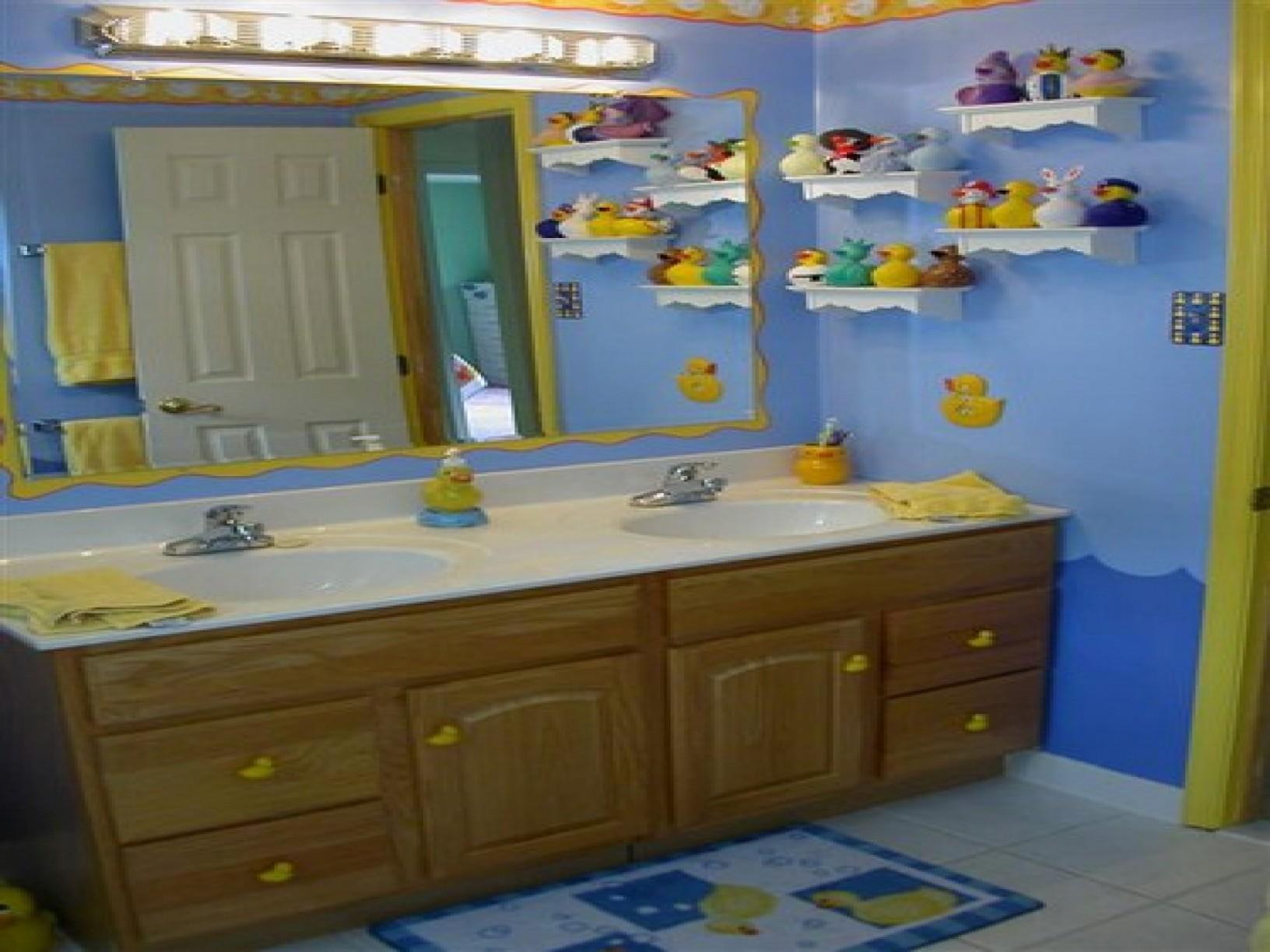 Attractive Beautiful Rubber Duck Bathroom Set Decoration Design