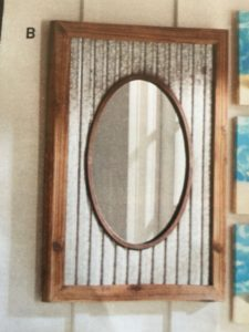 Rustic Bathroom Mirrors Beautiful Corrugated Metal Rustic Mirror Construction