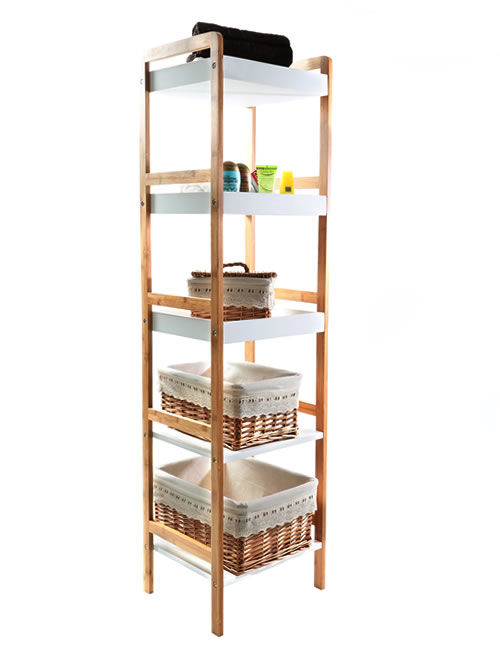 sensational bamboo bathroom shelf collection-Elegant Bamboo Bathroom Shelf Model