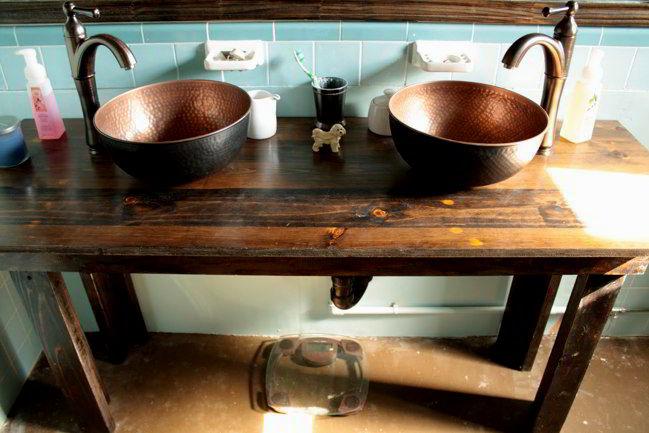 sensational rustic bathroom vanity plans image-Finest Rustic Bathroom Vanity Plans Décor