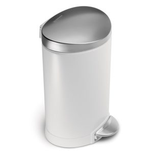 Simplehuman Bathroom Trash Can Finest Amazon Simplehuman Mini Semi Round Step Trash Can White Decoration