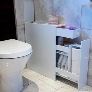 Slim Bathroom Storage Best Of Marko Slimline organiser Bathroom Cupboard Cabinet White Wooden Photograph