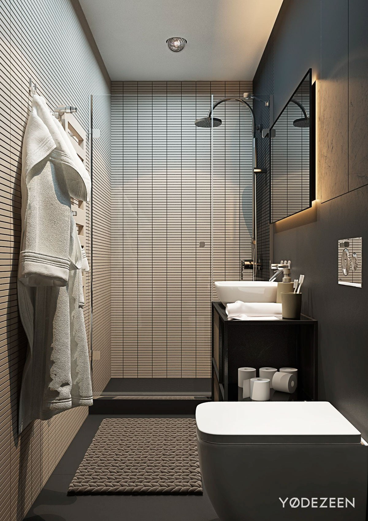 Small Apartment Bathroom Ideas Amazing Small Studio Apartments with Beautiful Design Bathroom Tile Color Image
