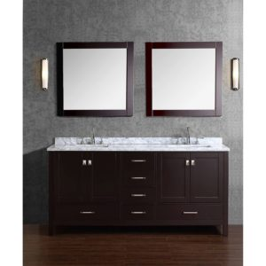Solid Wood Bathroom Cabinets Lovely Buy Vincent Inch solid Wood Double Bathroom Vanity In Espresso Concept