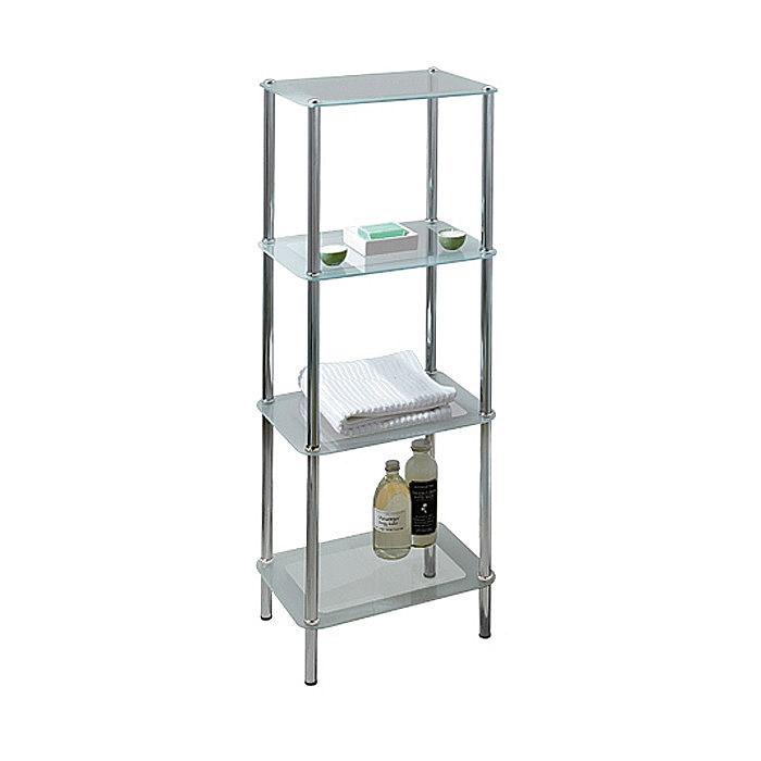 stylish 3 tier bathroom shelf plan-Modern 3 Tier Bathroom Shelf Design