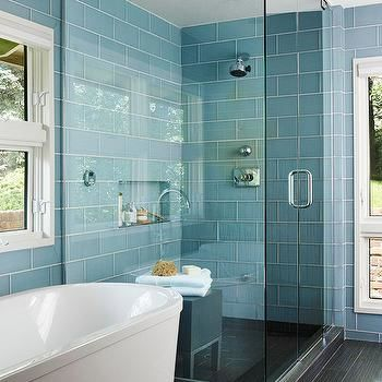 stylish blue glass tile bathroom wallpaper-Amazing Blue Glass Tile Bathroom Photograph