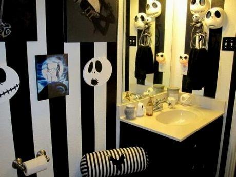 sensational nightmare before christmas bathroom wallpaper - Nightmare Before Christmas Bathroom