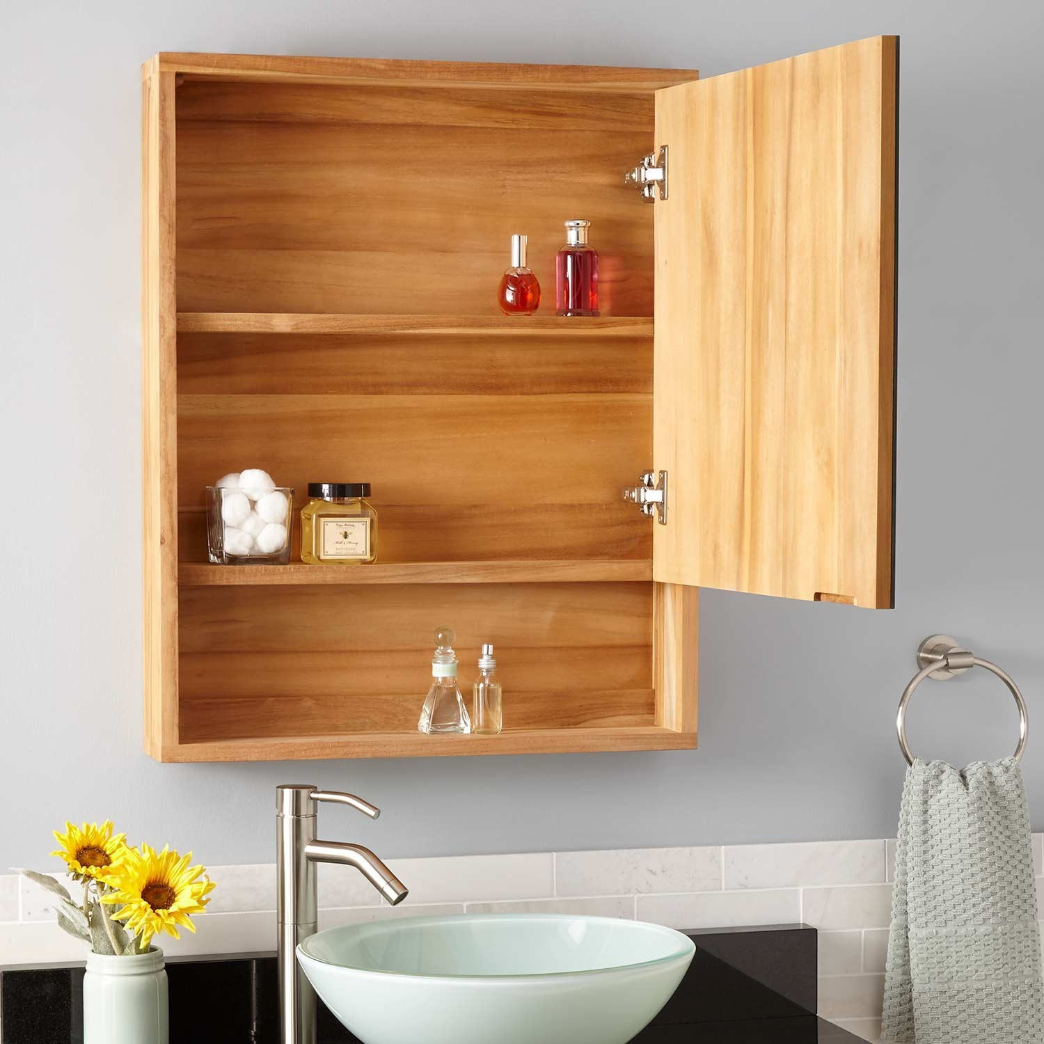 Superbe Teak Bathroom Cabinet Finest Bastian Teak Medicine Cabinet Natural Teak  Bathroom Online