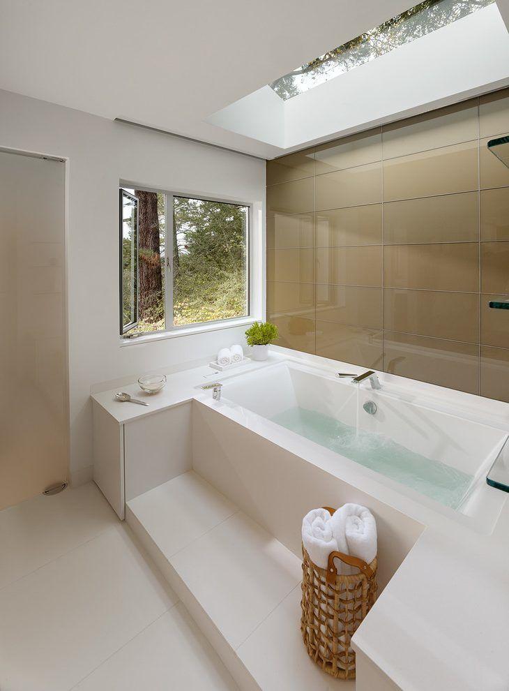 terrific marble subway tile bathroom picture-Contemporary Marble Subway Tile Bathroom Layout