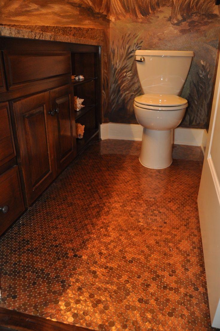 New Penny Tile Bathroom Floor Layout - Home Sweet Home ...
