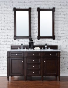 Transitional Bathroom Vanity Terrific Brittany James Martin Burnished Mahogany Transitional Decoration