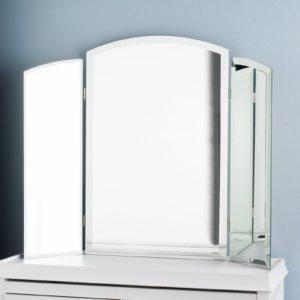 Tri Fold Bathroom Mirror Contemporary Tri Fold Vanity Beveled Mirror Shades Of Light Gallery