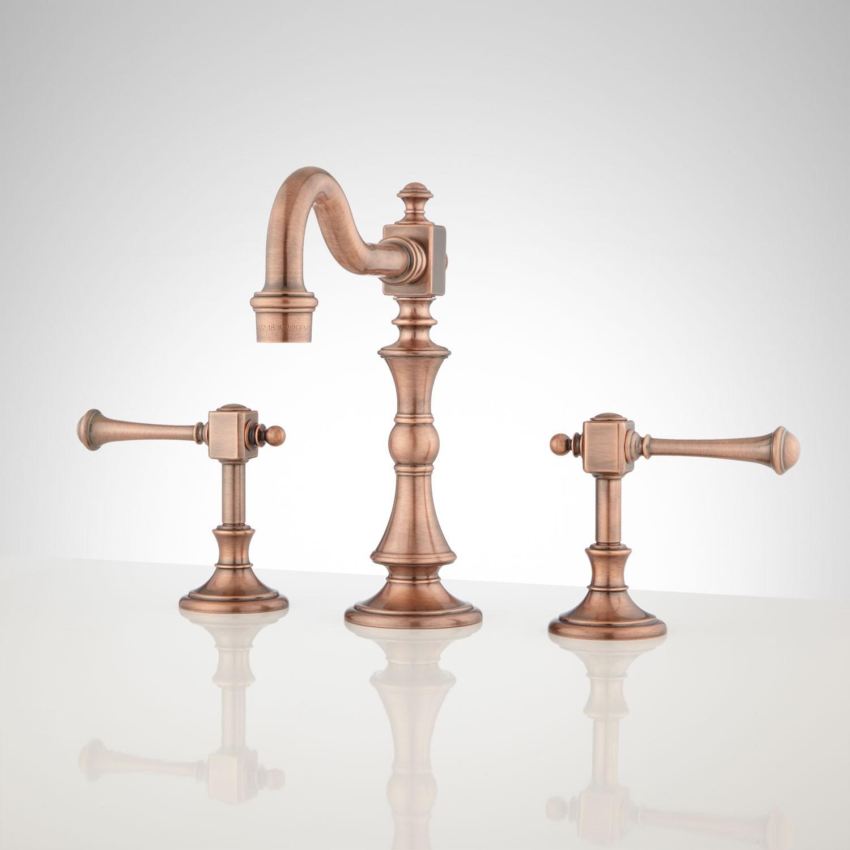 Vintage Bathroom Hardware Lovely Vintage Widespread Bathroom Faucet Lever Handles Bathroom Concept