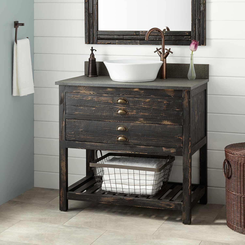 New Weathered Wood Bathroom Vanity Plan - Home Sweet Home ...
