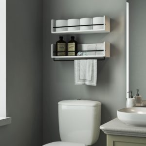 White Bathroom Shelves Fascinating Endearing Cottage Bathroom Storage Cabinet Hgtv In Shelf Inspiration