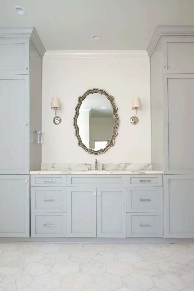 Fancy Bathroom Vanity with Linen Cabinet Gallery - Home ...
