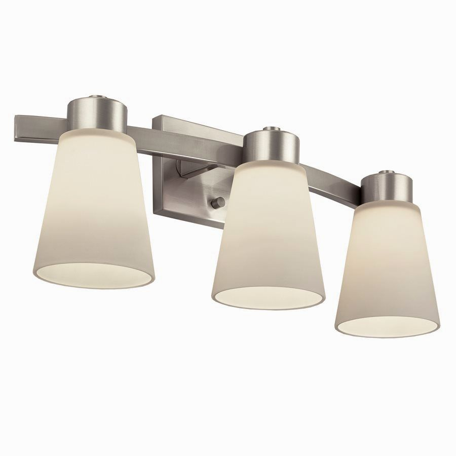 Moving Bathroom Vanity Light: Fascinating Lowes Bathroom Light Fixtures Brushed Nickel
