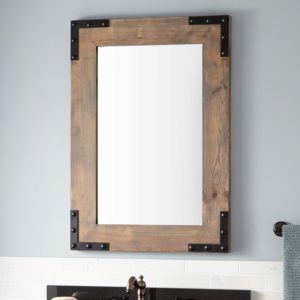 Wood Bathroom Mirror Contemporary Bonner Reclaimed Wood Vanity Mirror Gray Wash Pine Bathroom Portrait