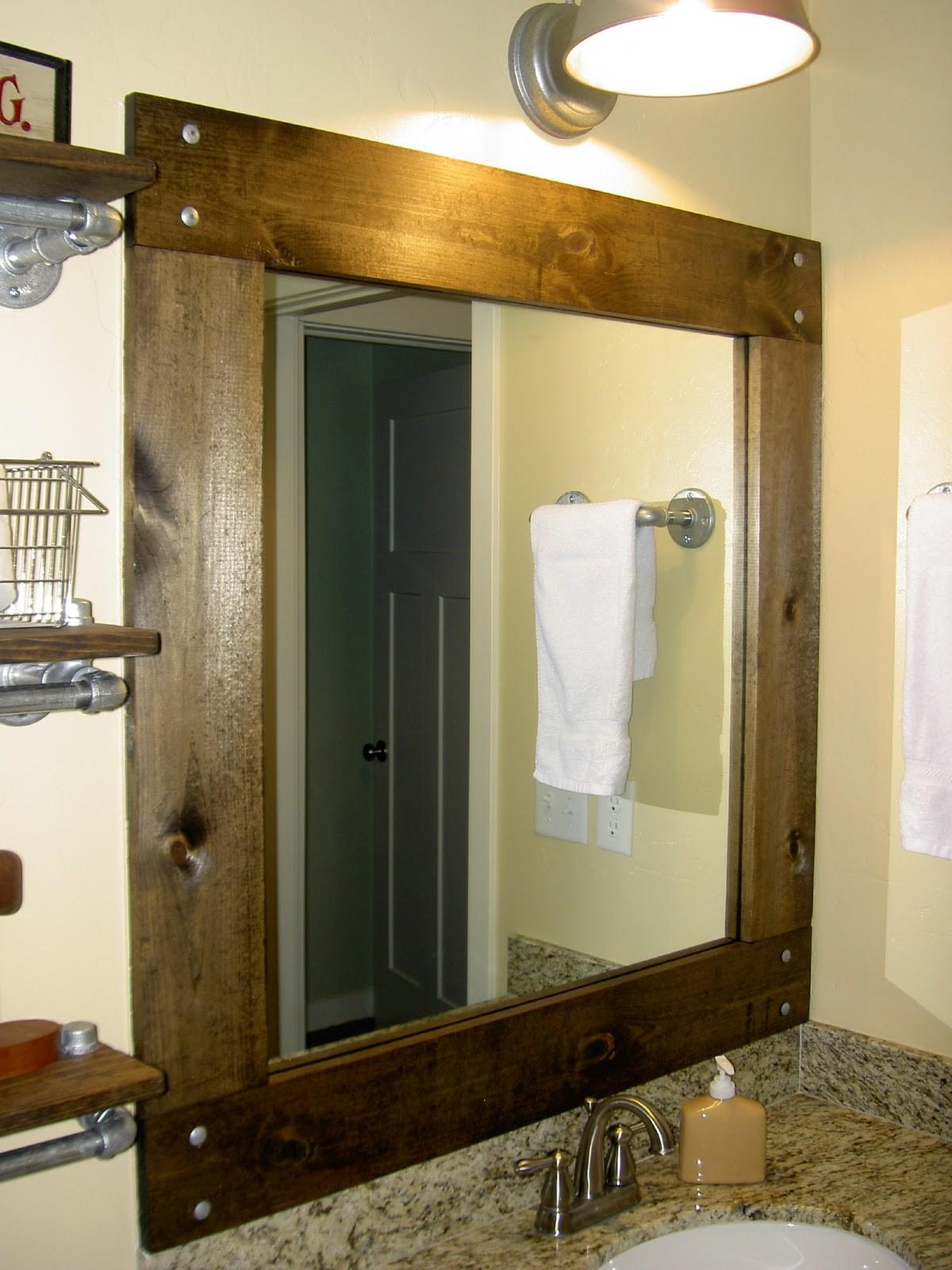 Wood framed bathroom mirrors new impressive bathroom mirrors wood frame in home design concept with ideas